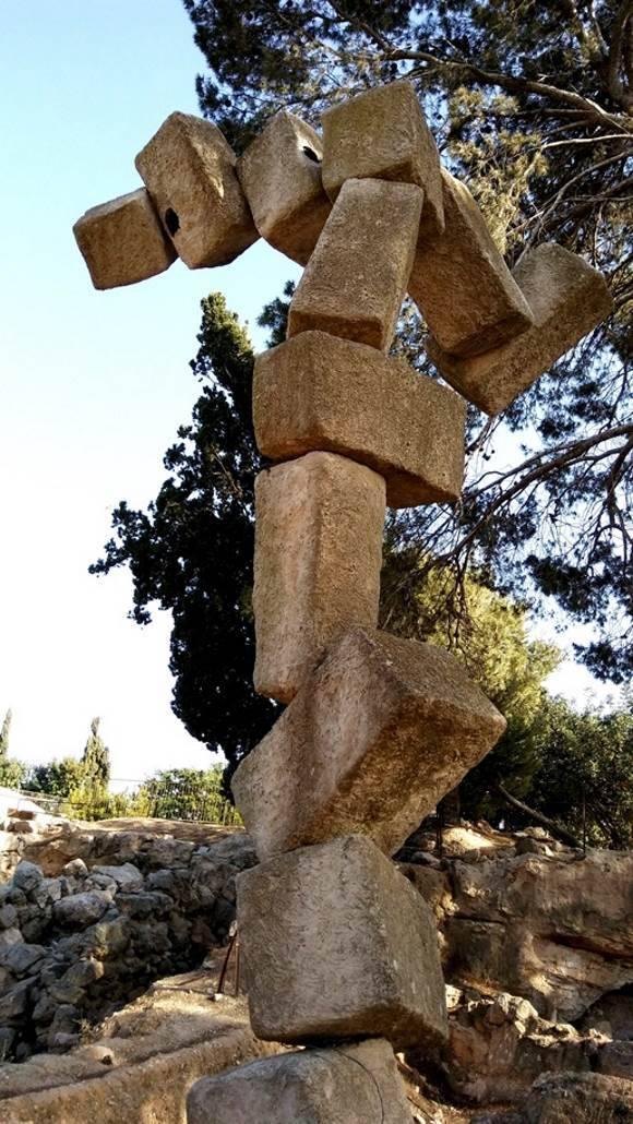 רמת רחל פיסול בגן הארכיאולוגי|צילום: נעמי גולן